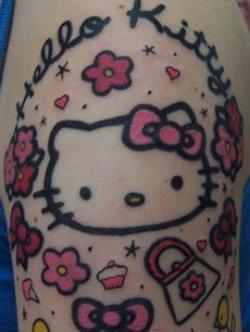 Дизайны тату в стиле scene