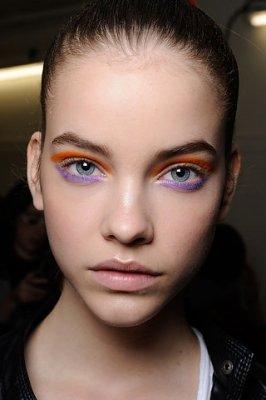 Оранжевый макияж глаз